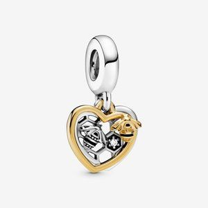 Pandora Hearts & Bees Dangle Charm